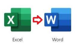 EXCELからWORDへのデータコピー方法
