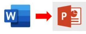 WORDからPOWER POINTへのデータコピー方法